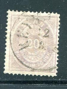 Iceland #13a  light violet  Used F-VF  Cat $500