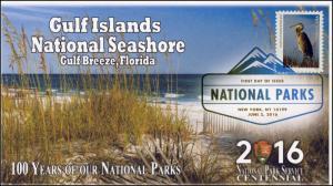 2016, National Parks, Centennial, Gulf Islands, Digital Color Postmark, 16-156