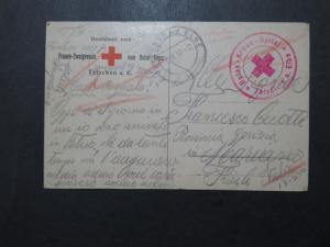 Czechoslovakia 1917 POW Card / Tetschen Camp Red Cross Censor - Z9880