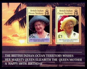 British Indian Ocean Territory Sc# 225 MNH 100th Birthday Queen Mother (S/S)