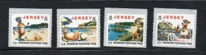 Jersey Sc 786-9 1997 Lillie the Cow stamp set mint NH