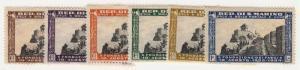 San Marino - 1935 - SC 161-65,167 - LH - Short set