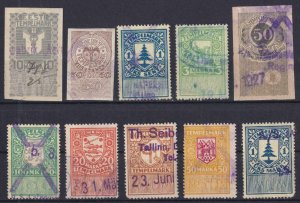 ESTONIA  INTERESTING OLD REVENUES? COLLECTION REMOVED FROM STOCK CARD - W605