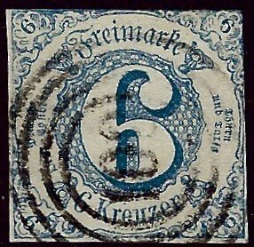 German Southern District SC#54 Used F-VF SCV$45.00...Worth a Close Look!