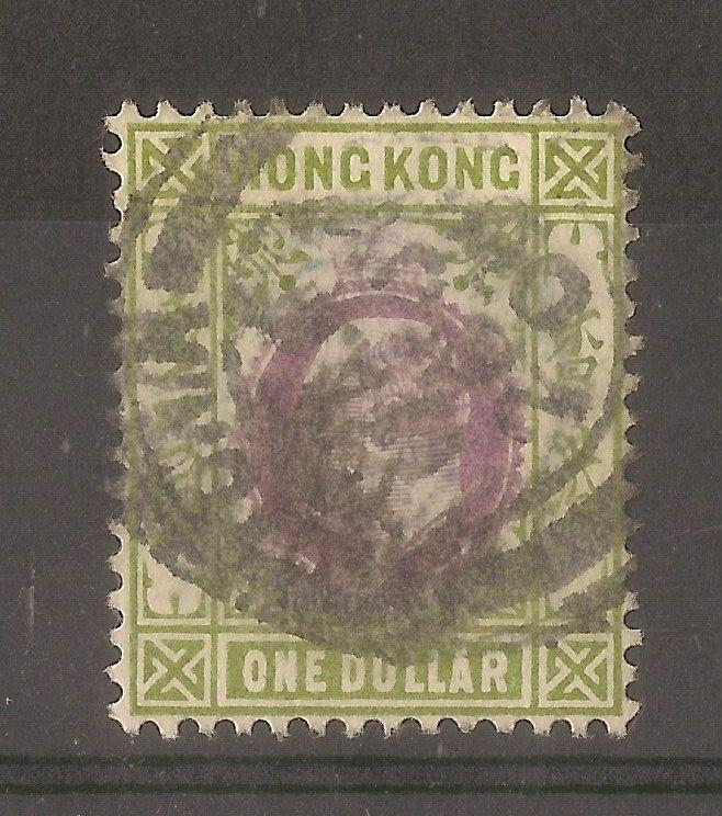 Hong Kong 1903 $1 SG72 Fine Used Cat£28