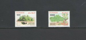 TUNISIA : Sc. 1639-40 / ** OLIVE  TREES  **/ SET   / MNH