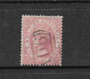 BRITISH HONDURAS 1865  6d  ROSE  QV  FU    SG 3