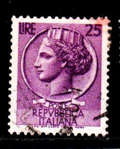 Italy - #681 Italia (Wmk 303 17 x 21) - Used