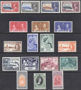 Leeward Is 1935-53 Commemoratives SG 88-125 Scott 96-132 UMM/MNH Cat £44($59)