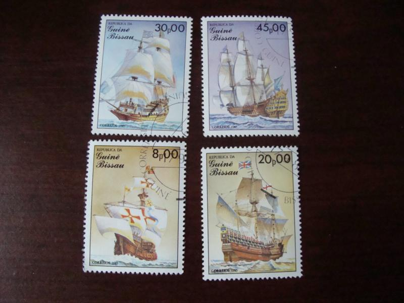AFRICA--Guinea-Bissau  Cancelled  Mint  NG  1985    Stamps with Ships