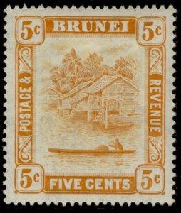 BRUNEI GVI SG82b, 5c orange, M MINT.