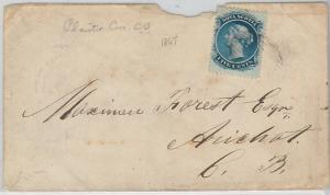 54347  -  CANADA -  POSTAL HISTORY:  COVER 1867