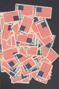 {BJ STAMPS} 1346  100 count  6¢ mint stamps. Fort McHenry, Historic Flags 1968