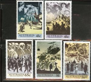 AUSTRALIA Scott 1174-8 MNH** 1990-2005 WW2 set CV $5.95