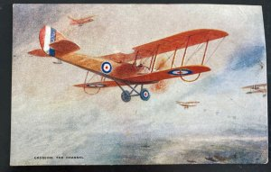 1919 Cricklewood England Picture Postcard Cover Early Aviation Crossing Channel