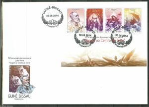 GUINEA BISSAU  2014 150th  JULES VERNE'S 'VOYAGE TO CENTER OF EARTH'  SHT  FDC