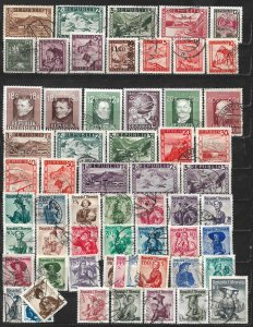 COLLECTION LOT OF 59 AUSTRIA 1945+ STAMPS CV+ $42 CLEARANCE