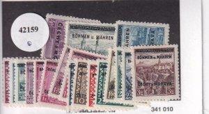 Bohemia & Moravia: German Occupation: Sc #1-19, MH (42159)