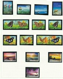 CK72) Cocos Keeling Island 2011-12 Boats, Butterflies, Skies of Cocos CTO