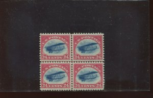 Scott C3 Air Mail Mint Center Line Block of 4 Stamps NH (Stock C3-1)