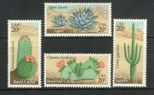 1942-45 Desert Plants Set Of 4 Mint/nh FREE SHIPPING