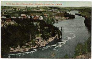 Canada View Card - Bird's Eye View Fenelon River, Kawartha Lakes, Ont. Unused
