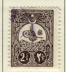 TURKEY; 1908 early classic issue fine used 2.5Pi. value