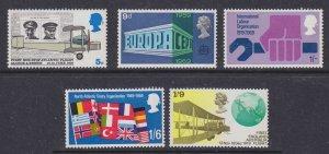 GB 1969 Commemoratives / Anniversaries Used SG#791-795 S1063