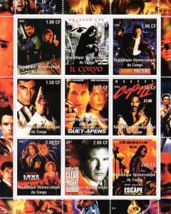 Congo 2001 Cinema/James Bond/Films Shlt (9) MNH VF