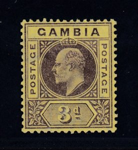 Gambia, SG 75 var, MLH Slotted Frame variety