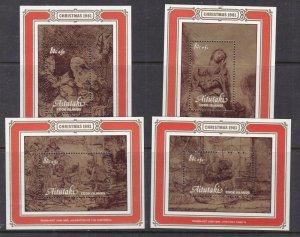 AITUTAKI ^^^^^^1981  x4  MNH Souv/sheets ( XMAS )   $$@ sc47aitutaki