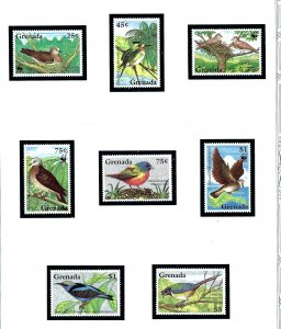 Grenada 2401-08 MNH 1995 Birds      (KA)