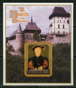 LIBERIA MONARCHS OF THE MILLENNIUM KING EDWARD VI  SOUVENIR SHEET MINT NH