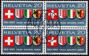 Switzerland. 1965 20c(Block of 4). S.G.724 Fine Used