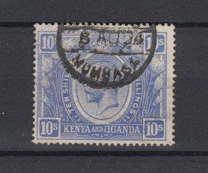 Kenya Uganda KGV 1922 10/- SG94 Fine Used JK5606