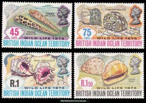 British Indian Ocean Territory Scott 59-62 Mint never hinged.