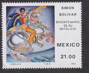 Mexico # 1322, Simon Bolivar, NH 1/2 Cat.
