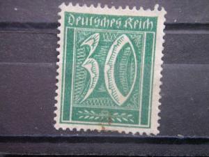 GERMANY, Empire, 1921, used 30pf, Numeral  Scott 141/165