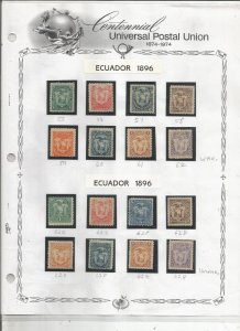 ECUADOR 1800'S COLLECTION, MINT/USED