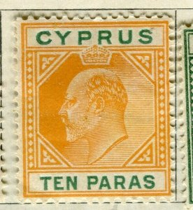 CYPRUS; 1904 early Ed VII issue Mint hinged 10pa. value