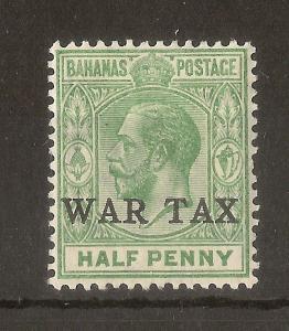 Bahamas 1918 0.5d War Tax SG91 Mint Cat£15