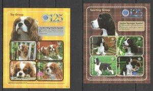 Z0137 2009 SIERRA LEONE FAUNA PETS DOGS TOY & SPORTING GROUP !!! 2KB MNH