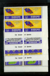 BARBADOS Sc#372-375 Complete Mint Never Hinged BLOCK Set