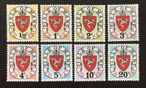 Isle of Man 1973 #J1-8, Postage Dues 1st Issues, MNH.