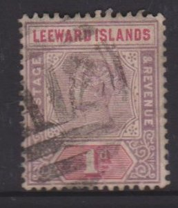 Leeward Islands Sc#2 Used - Postmark Cancel St Kitts A12
