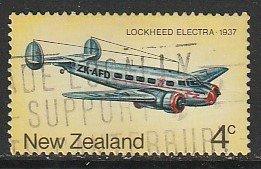 1974 New Zealand - Sc 557 - used VF - single - Lockheed Electra