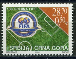 2004 Serbia and Montenegro 1v 100 years of football organization FIFA