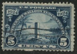 USA Scott 616 Used Huguenot- Walloon key stamp CV$13