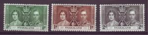 J20897 Jlstamps 1937 nyasaland proct set mnh #51-3 coronation