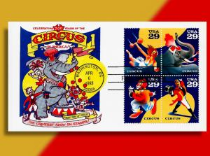 Elephants, Clowns and Aerialists! Oh My! . . 200 Years of US Circuses FDC